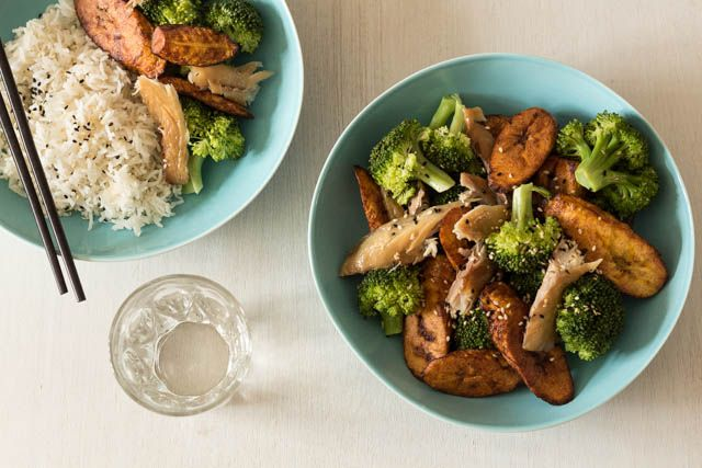 Plaintain and Broccoli Stir Fry @ Recipes From A Pantry