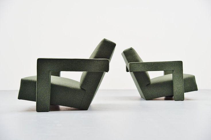 Gerrit Thomas Rietveld Utrecht chairs Metz & Co 1961