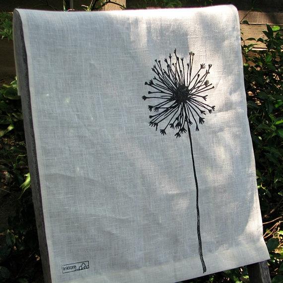 Handprinted Tea Towel by goodmeasureshop