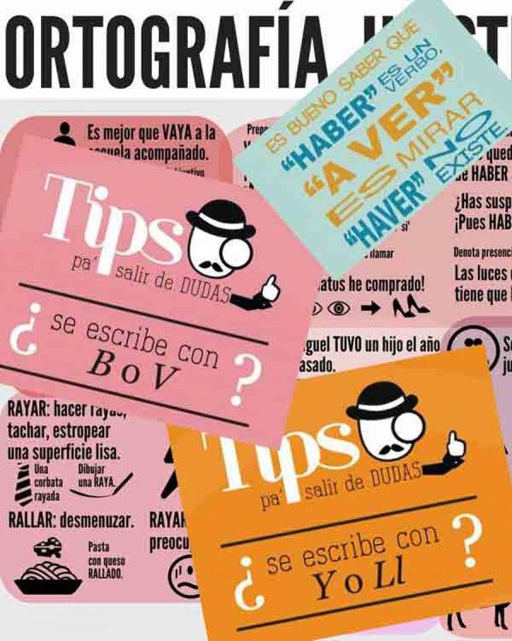 10 sencillas infografías para recordar las principales reglas ortográficas