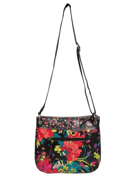 Step out with this cross body handbag that features a zipper closure, a front outside pocket, a back outside pocket with zipper clos ure and a matching and removable keychain. The lining features two open multi-use pockets and a zippered back wall pocket. #NewandNow