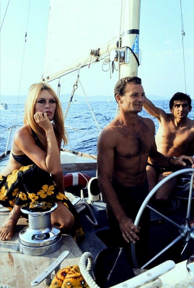 Brigitte Bardot and Eric Tabarly