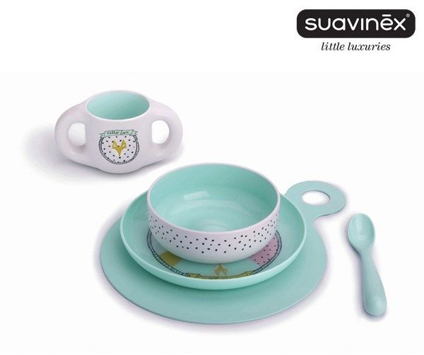 SUAVINEX large plate, bowl, cup, spoon and table mat