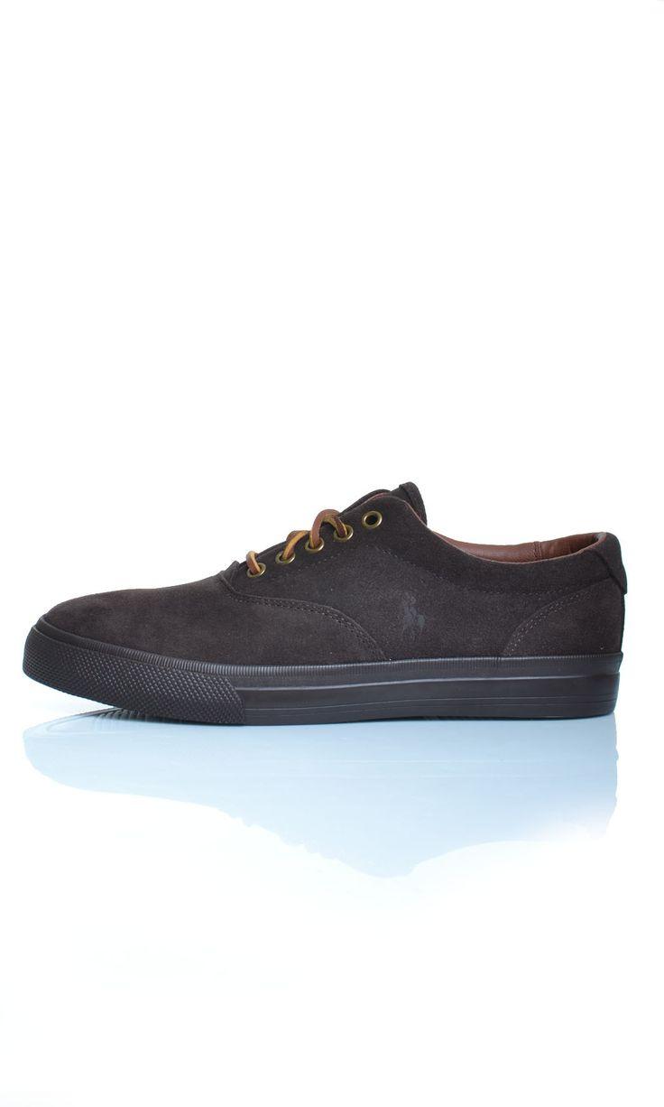 Scarpe Polo Ralph Lauren VAUGHN Sneakers Basse Camoscio - Marrone - Scarpe Uomo - A85Y2039 - Dursoboutique.com