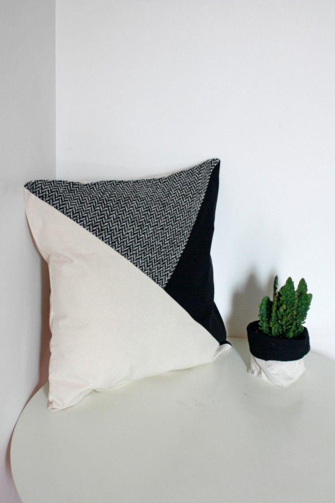 Coussin Polhoo Design Noir et Blanc / Polhoo.com