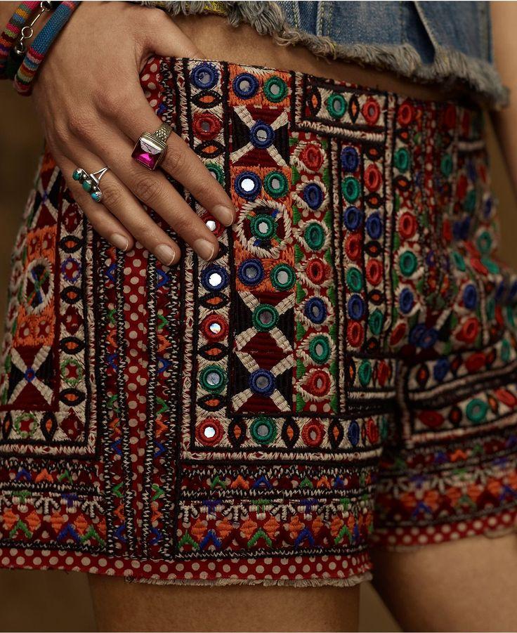 Denim & Supply Ralph Lauren Embroidered Bohemian Shorts