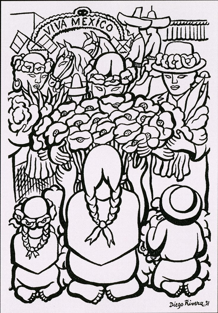 diego rivera coloring pages - photo#24