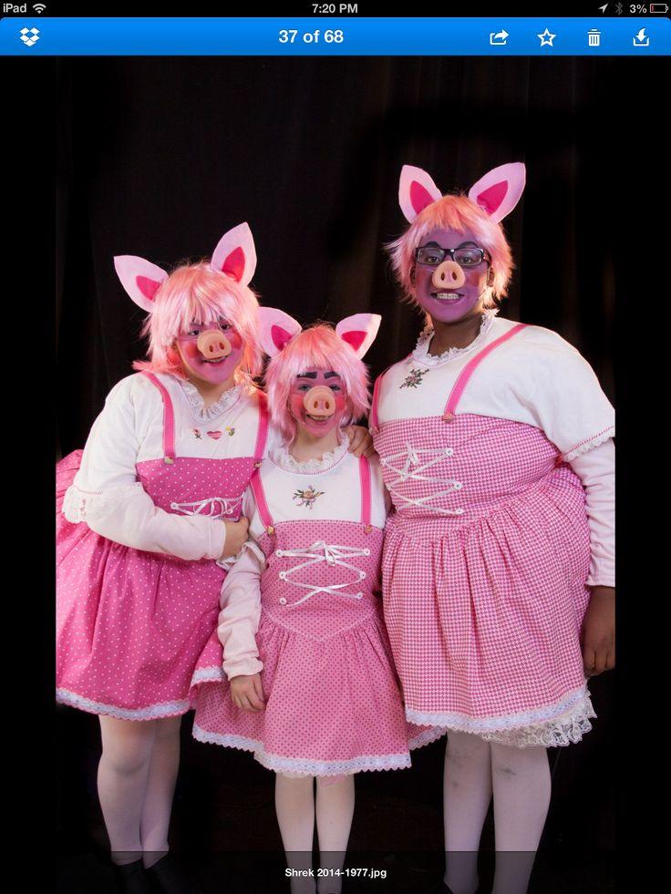 3 pigs if girls