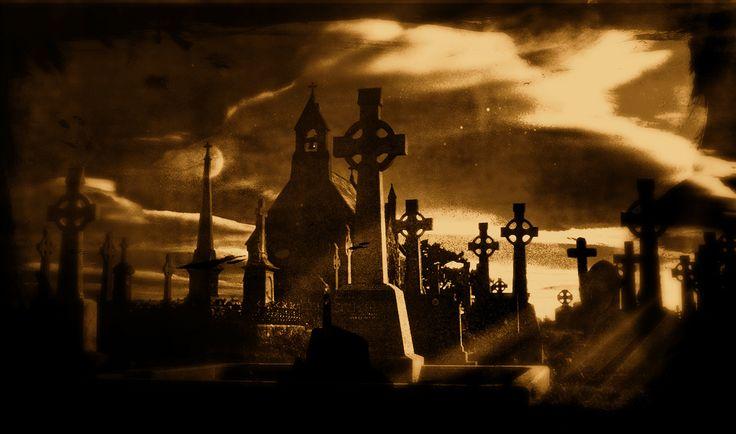 Het kerkhof waar de vader van Oscar begraven ligt en die ze op het einde opgraven
