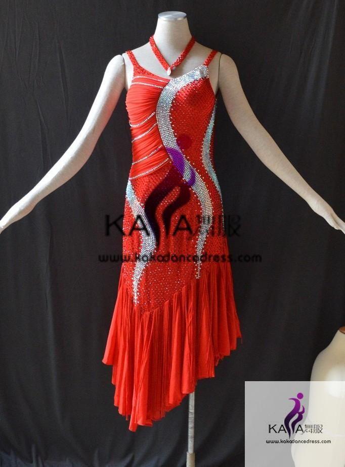KAKAL1469,Women Latin Dance Wear,Girls Salsa Practice Dance Dress Tango Samba Rumba Chacha Dance Dress,Latin Dance Dress - KAKA DANCE DRESS FACTORY