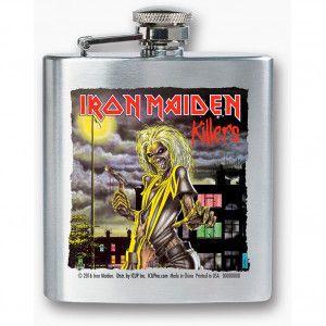 IRON MAIDEN KILLERS FLASK #band #music #bandmerch #licensed #licensedmerch #entertainment #rocknroll #rockabilia