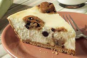 Cookie Dough Cheesecake 2 pkg. (8 oz. each) PHILADELPHIA Cream Cheese, softened1/2 cup sugar1/2 tsp. vanilla2 eggs3/4 cup prepared or refrigerated chocolate chip cookie dough, divided1 HONEY MAID Graham Pie Crust (6 oz.)