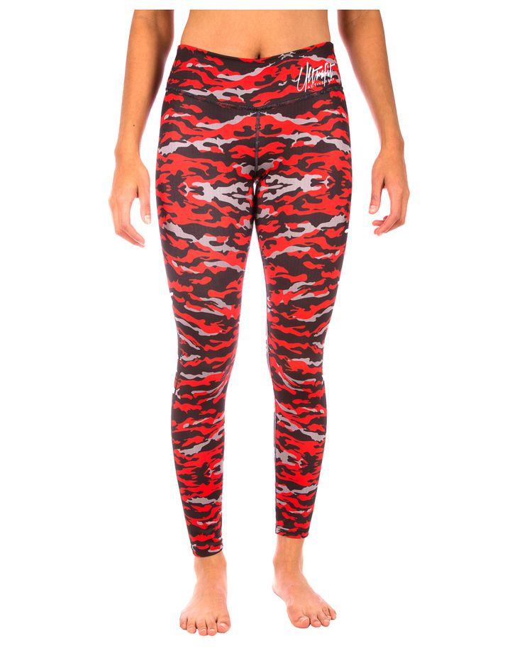 Camo - Red, Black, & Grey - Yoga Pants