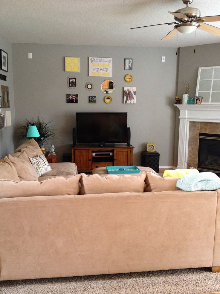 Glidden Wood Smoke Paint In Living Room For The Home