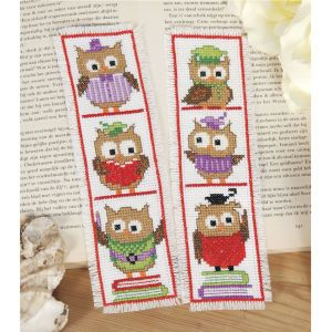 Funny Owl Bookmarks - Cross Stitch, Needlepoint, Stitchery, and Embroidery Kits, Projects, and Needlecraft Tools | Stitchery