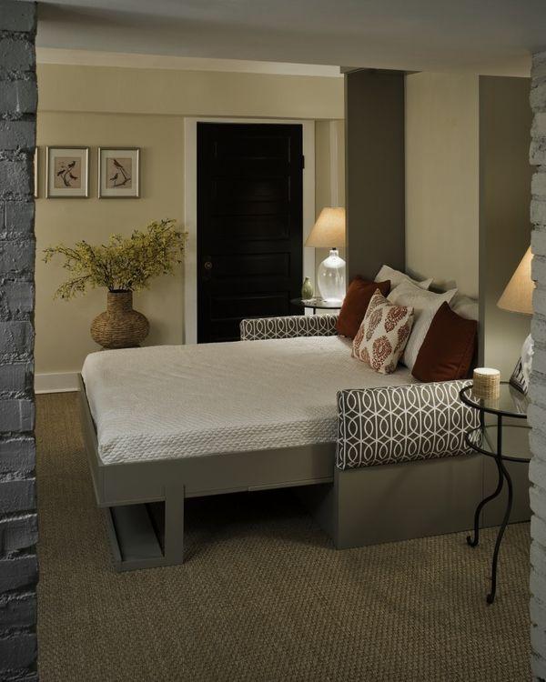 Diy murphy bed guest room apartment pinterest