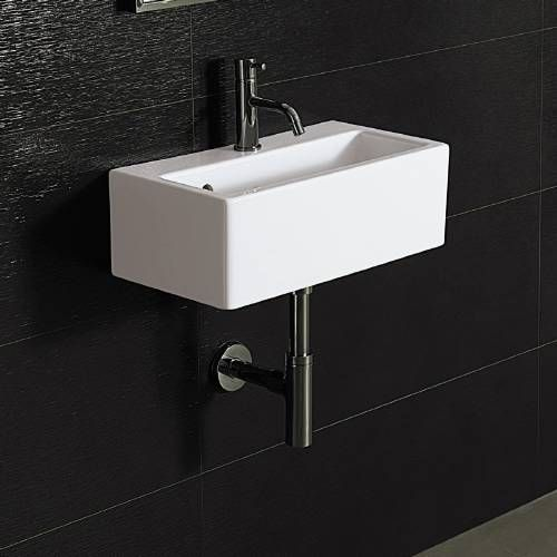 Bissonnet 20140 Ice 50 Wall Mount Ceramic Bathroom Sink