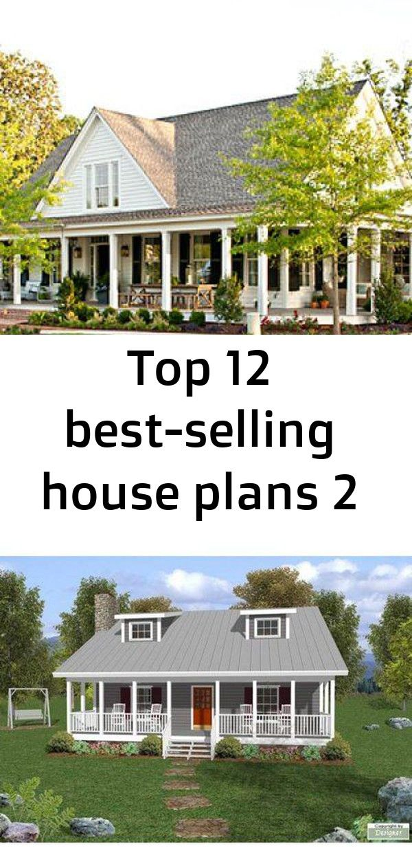 Top 12 Best Selling House Plans 3 Farmhouse Revival Plan 1821 Thehousedesigners 6619 Construction Ready Cotta With Images Selling House House Plans Cottage House Plans