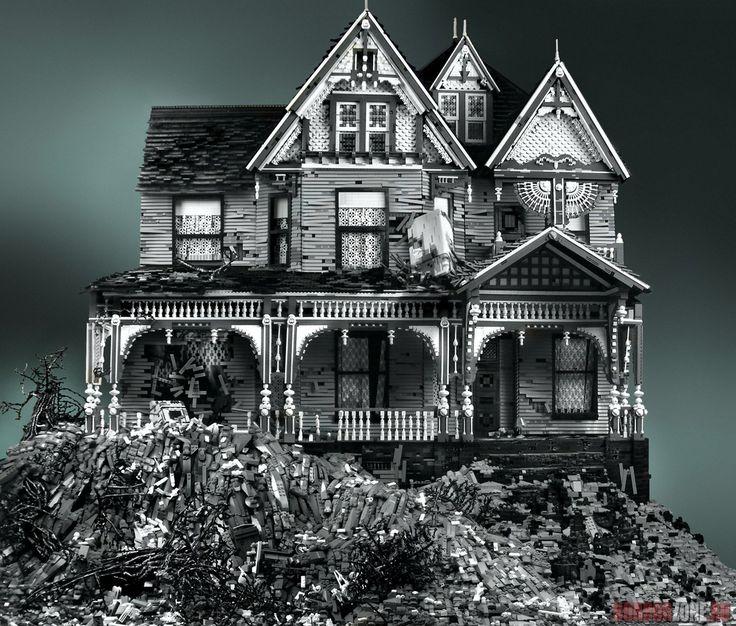 Жуткие старые дома, сделанные из... LEGO