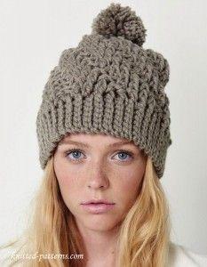 Crochet winter hat pattern free