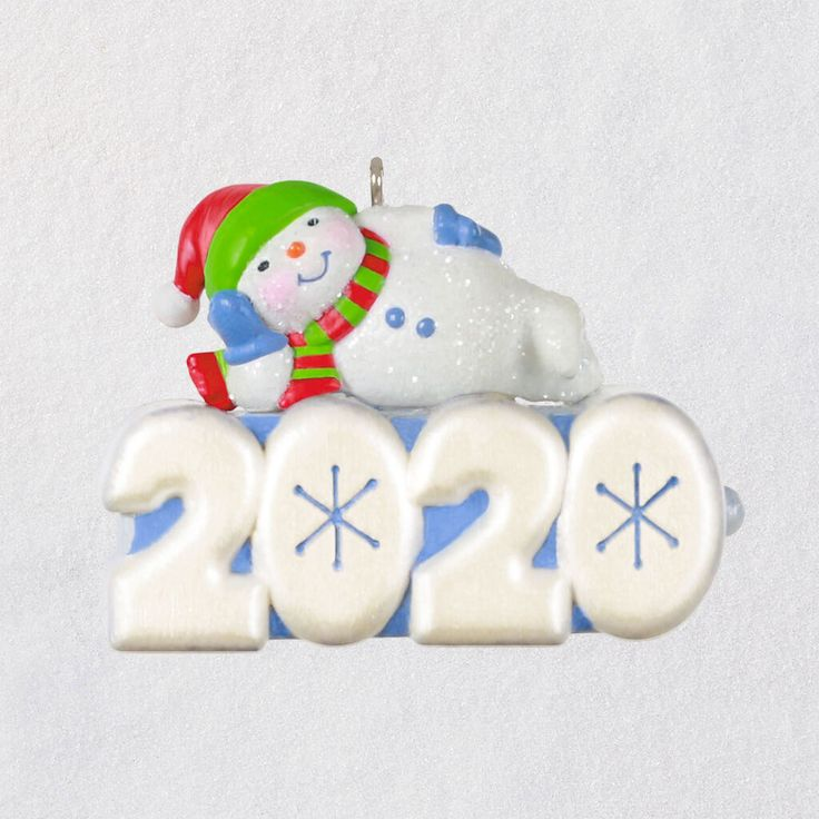 Mini A Snowy 2020 Ornament With Light, 1.25 in 2020