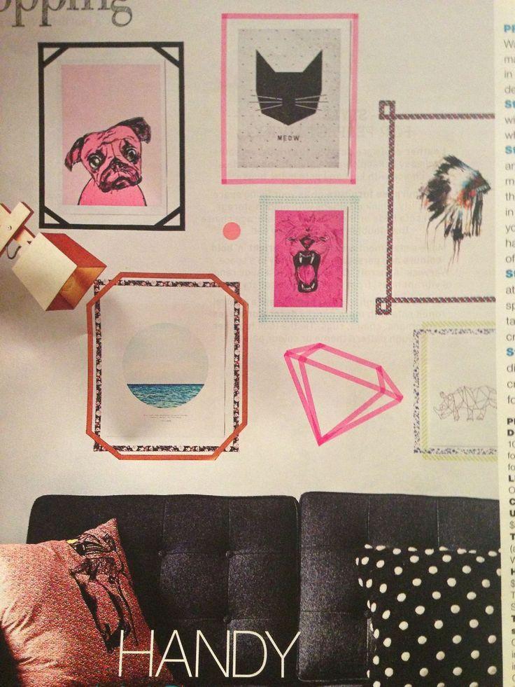 Fitas coloridas são ótimas opções para uma decoração linda na parede! Veja outras ideias e inspirações