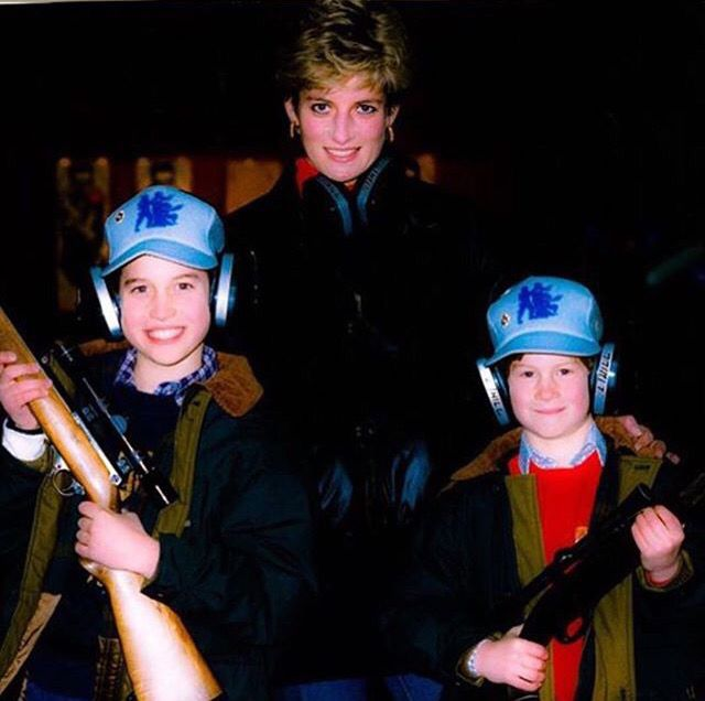 Princess Diana and Princes William and Harry.                              …