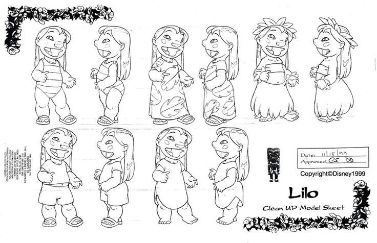 Clean-Up Modelsheet3(Lilo and Stitch) by dagracey.deviantart.com on @deviantART