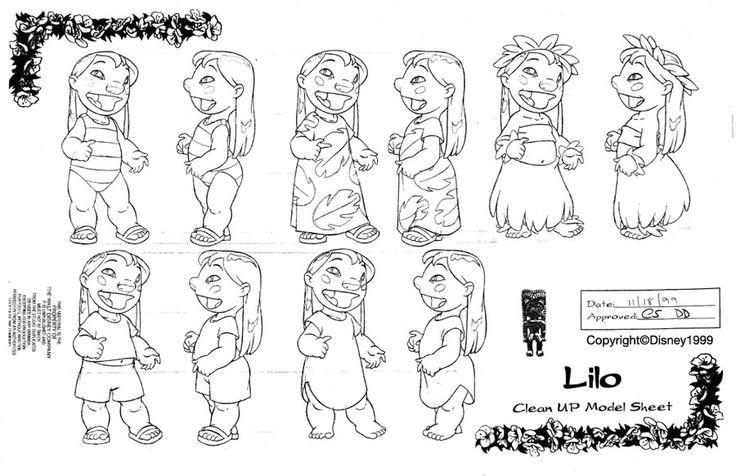 Clean-Up Modelsheet3(Lilo and Stitch) by dagracey.deviantart.com on @deviantART