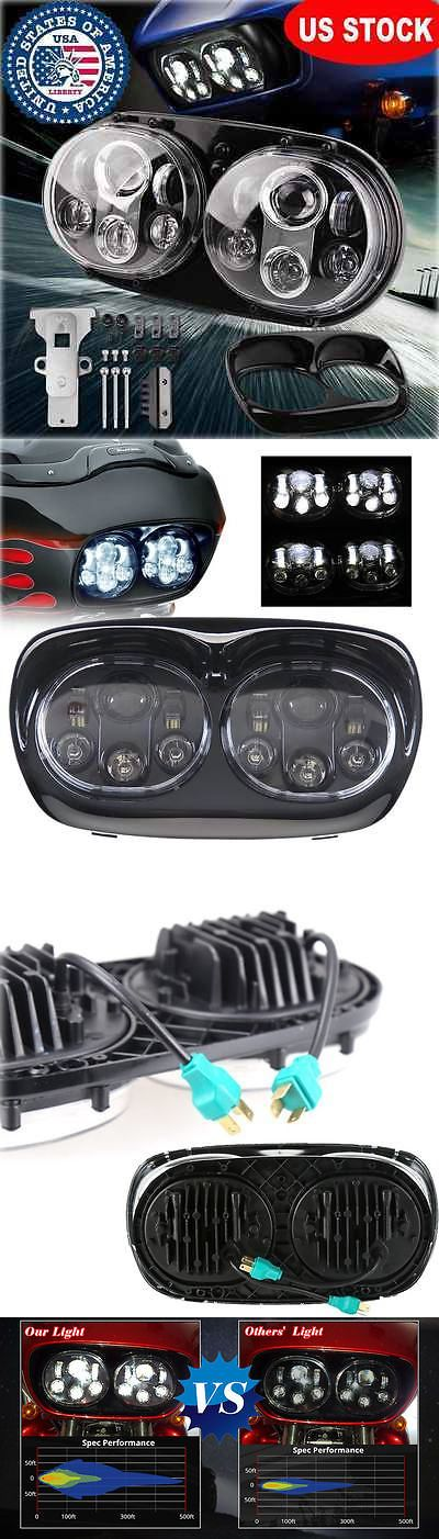motorcycle parts: Osram Led Dual Headlight Daymaker Projector Lamp For Harley Road Glide 03-2016 -> BUY IT NOW ONLY: $141.07 on eBay!