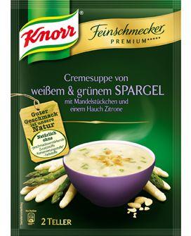 KNORR+Feinschmecker+Premium+*****+Cremesuppe+von+weißem+&+grünem+Spargel