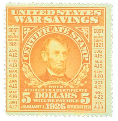 Was the last War Savings Stamp issued to pay for World War I.