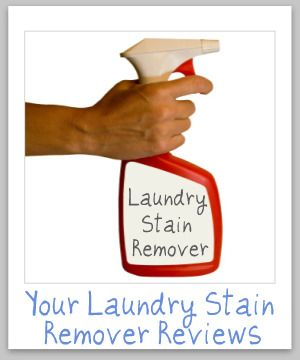 Over 50 reviews of a wide variety of laundry stain removers for all types of stains, spots and spills {on Stain Removal 101}