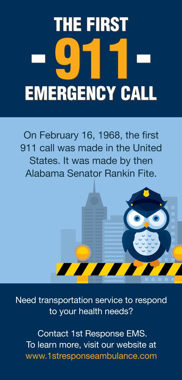 The First 911 Emergency Call  #emergency #Ambulance #Transportation     www.1stresponseambulance.com