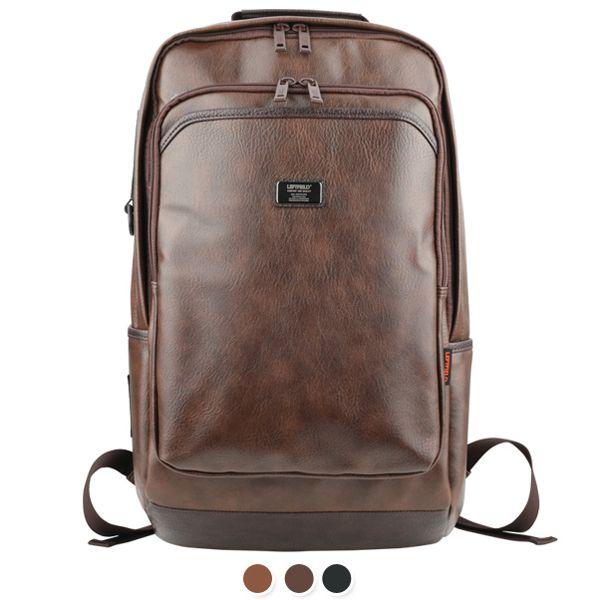 Brown Backpack for Men Notebook Rucksack LEFTFIELD 637 (1)