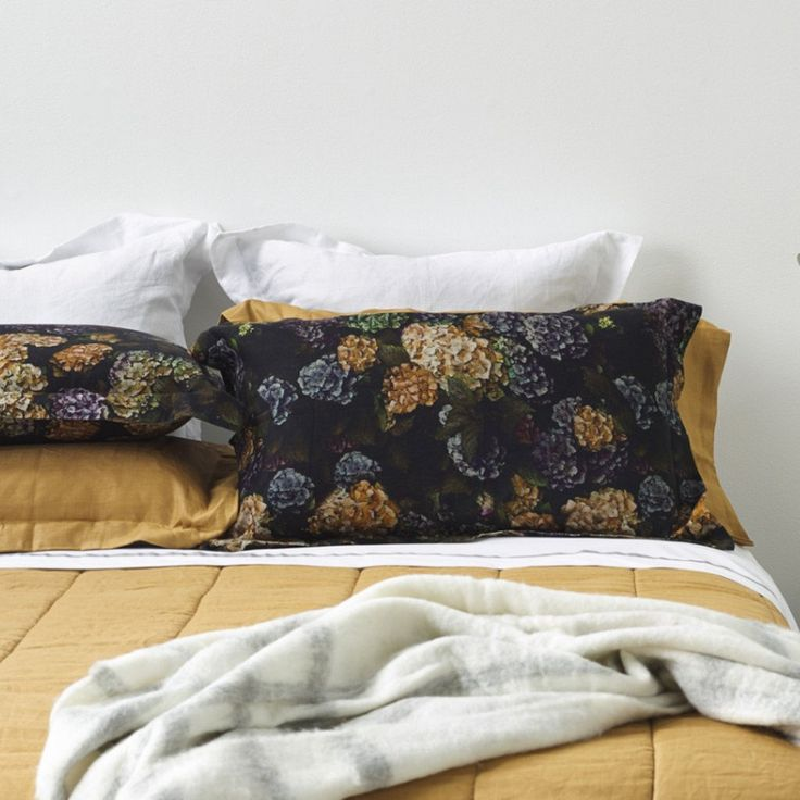 hydrangea pillowcases