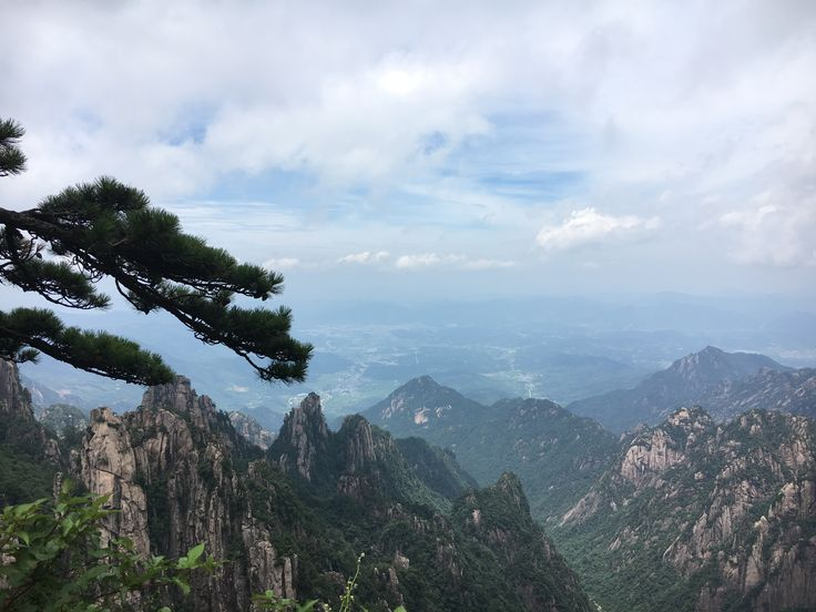 Beautiful and unforgettable view from Huangshan Mountain
