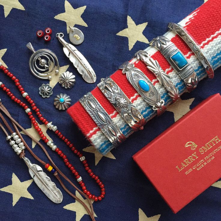 Larry Smith! ( made in japan, bracelet, necklace, feather, silver, turquoise))