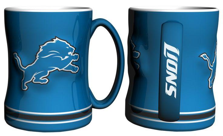 Detroit Lions NFL Coffee Mug  -  14oz Sculpted