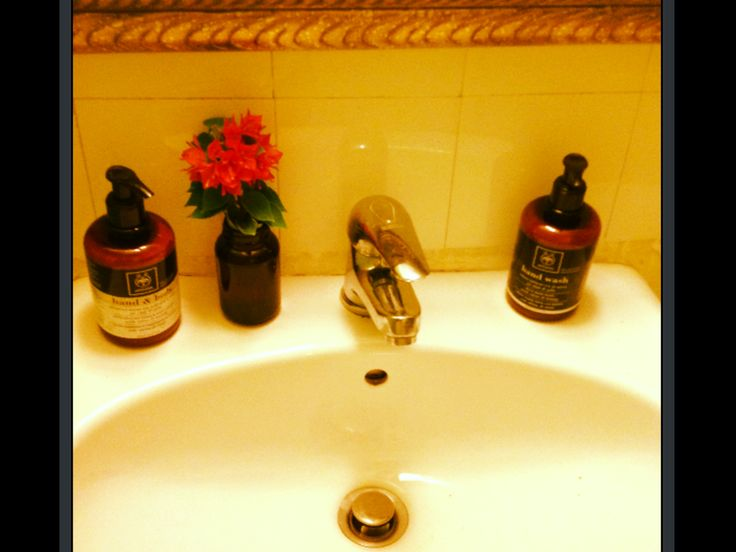 Sink situation! #Apivita hand wash with olive oil and honey #Apivita hand lotion with olive oil and honey