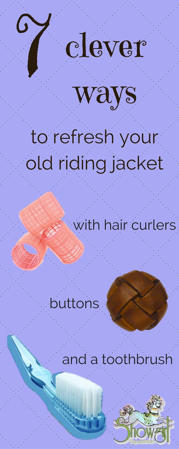 Could your jacket do with some updating? Perhaps you've been out of the scene for a while and want to dip your toe back into the show ring scene without committing to a whole new outfit?  Our fashion guru, Beth has put together a list of handy ideas on how to give your old riding jacket back that sparkle, without breaking the bank!