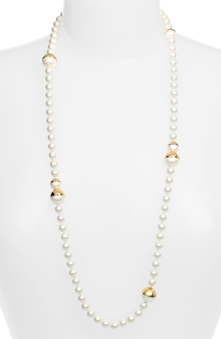 Kate Spade New York 'bits & Baubles' Long Faux Pearl Necklace