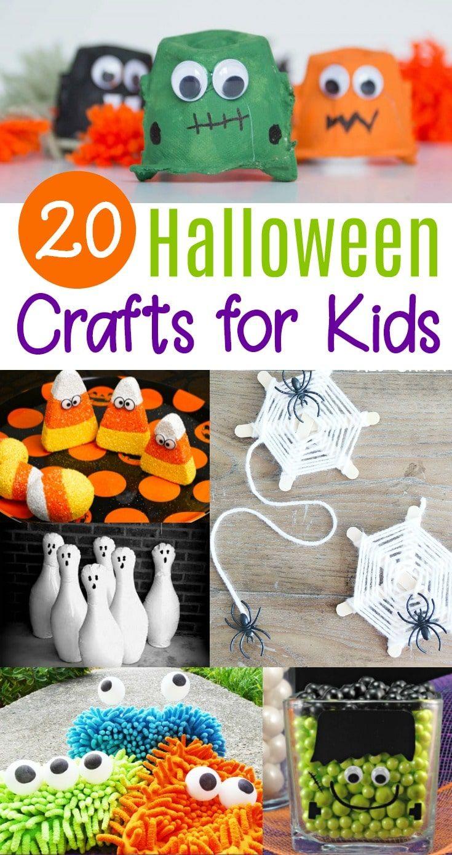 20 Cute Easy Halloween Crafts For Kids Leonydas Pinterest