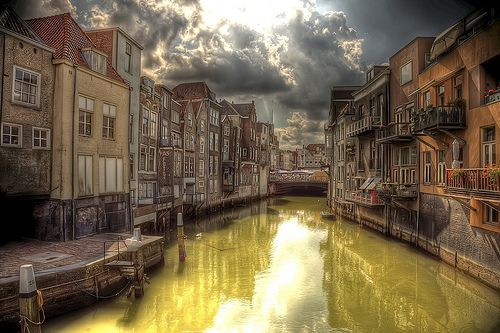 Wijnhaven, Dordrecht, Holland [HDR] by toffiloff, via Flickr