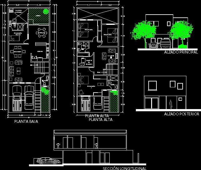 planos de casas pequenas en autocad