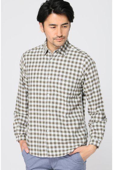 LIVING CONCEPTCHAIN SHIRT  LIVING CONCEPTCHAIN SHIRT 17280 ベーシックなチェックシャツですが絶妙な配色で作られておりすっきりとした落ち着きのある印象に仕上がっております 上質な肌触りで着心地も良く度着たら病みつきになるアイテムです またトリプルスティッチで縫製されているパーツなどからもこだわりを感じる枚 裾はゆるやかにラウンドしていますのでニットやスウェットとのレイヤードの相性も良くあわせられます LIVING CONCEPTリビング コンセプト 雑貨とホームウェアのブランドLIVING CONCEPT 建築(バウハウス)TOOL(道具)人体工学(利便性)の視点から観た 実験的素材によるアイテムを展開しております しかし単に幅が広いだけでなく何れも生産背景にしっかりと拘りを持ち作られている物達です モデルサイズ:身長:182cm バスト:91.5cm ウェスト:78cm ヒップ:92cm 着用サイズ:2