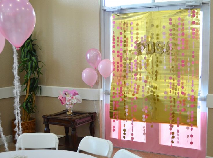 baby shower decor ideas of a baby girl baby shower pink gold