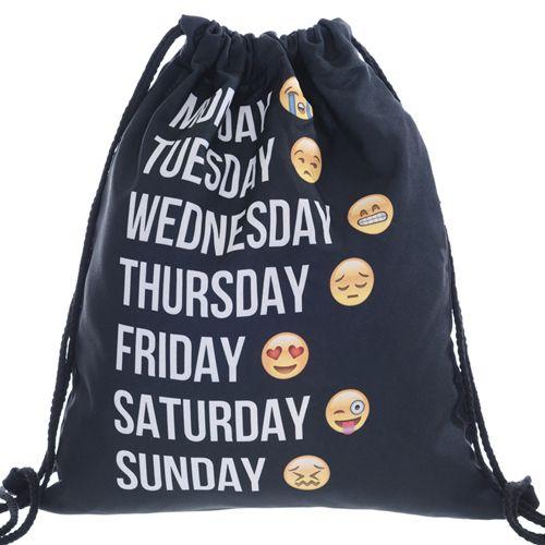 Шнурок Сумки и рюкзак из хип-хоп Японский Harajuku Ретро Мешок Cinch Обновления Школы Дети Мужская Сумка BP038 #jewelry, #women, #men, #hats, #watches
