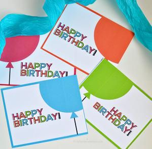 9 Free Printable Birthday Cards That Look Like You Bought Them: Printable Birthday Card from Thirty Handmade Days