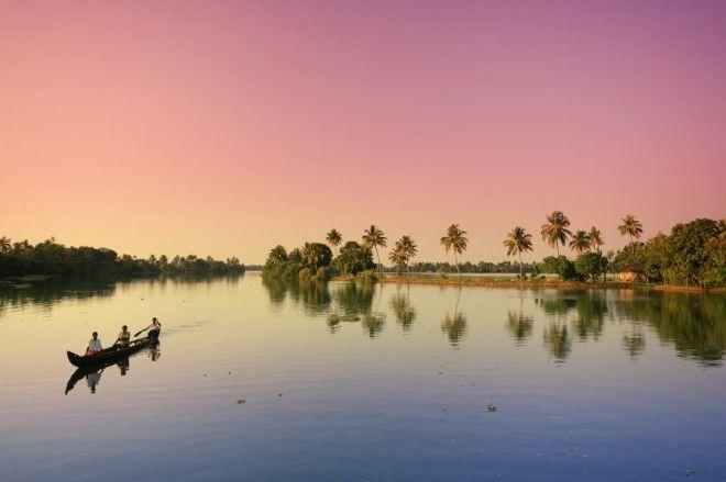 India, Kerala, Kerala Backwaters near Allapuzha